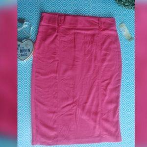 ICY brand peach pencil skirt